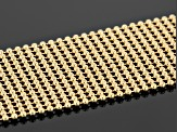 Pre-Owned 18k Yellow Gold Over Bronze Weave Necklace 24 inch
