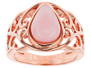 Pre-Owned Copper Pink Peruvian Opal Ring