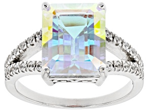 Pre-Owned Multi-Color Mercury Mist® Topaz Rhodium Over Sterling Silver Ring 4.31ctw
