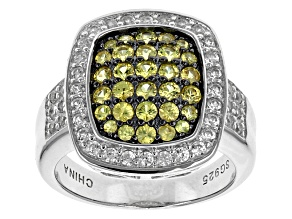 Pre-Owned Yellow Sapphire Sterling Silver Ring 1.74ctw