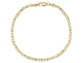 Pre-Owned 10K Tri-Color Valentino Bracelet