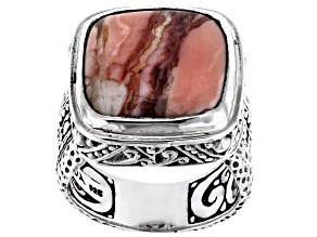 Pre-Owned Pink Opal Silver Ring