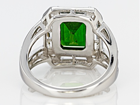 Pre-Owned Green Chrome Diopside Sterling Silver Ring 5.25ctw
