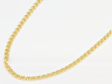 Pre-Owned 14k Yellow Gold Hollow Ritornello 18 inch Chain Necklace