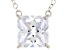 Pre-Owned White Cubic Zirconia 10k White Gold Necklace 5.00ctw