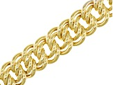 Pre-Owned 18k Yellow Gold Over Bronze Curb Link Bracelet 8.5 inch