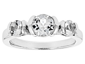 Pre-Owned White Goshenite Sterling Silver Ring 1.11ctw