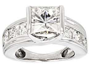 Pre-Owned Moissanite Platineve Ring 5.56ctw D.E.W