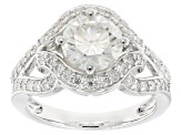 Pre-Owned Moissanite Platineve Ring 2.66tw D.E.W