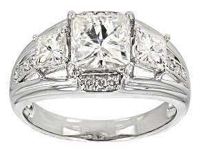 Pre-Owned Moissanite Platineve Ring 3.84ctw D.E.W