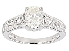 Pre-Owned Moissanite Platineve Ring 1.50ct D.E.W