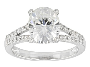 Pre-Owned Moissanite Ring Platineve™ 3.28ctw DEW