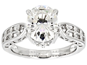 Pre-Owned Moissanite Ring Platineve™ 3.10ctw DEW.