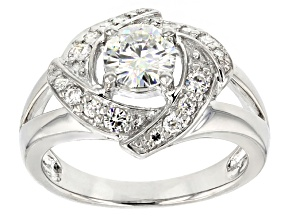 Pre-Owned Moissanite Ring Platineve™ 1.12ctw DEW.