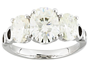 Pre-Owned Moissanite Ring Platineve™ 3.90ctw DEW