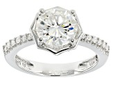 Pre-Owned Moissanite Platineve Ring 2.32ctw D.E.W