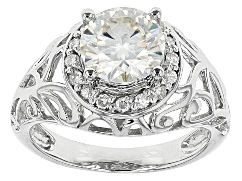 Pre-Owned Moissanite Ring Platineve™ 2.22ctw DEW