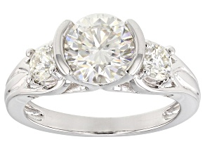 Pre-Owned Moissanite Platineve Ring 2.36ctw D.E.W