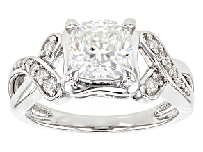 Pre-Owned Moissanite Platineve Ring 1.87ctw D.E.W