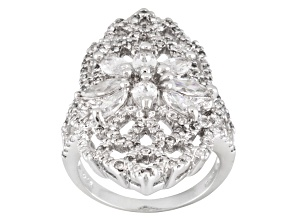 Pre-Owned Cubic Zirconia Silver Ring 4.79ctw