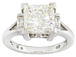 Pre-Owned Moissanite Ring Platineve™ 4.48ctw DEW