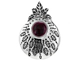 Pre-Owned Purple Spiny Oyster Shell Silver Pendant