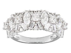 Pre-Owned Cubic Zirconia Rhodium Over Sterling Silver Ring 4.25ctw