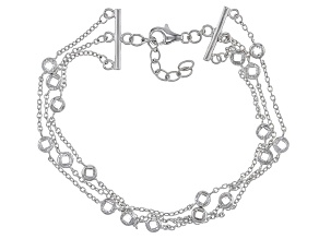 Pre-Owned White Cubic Zirconia Rhodium Over Sterling Silver Bracelet 6.41ctw