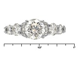 Pre-Owned Moissanite Platineve Ring 3.88ctw D.E.W