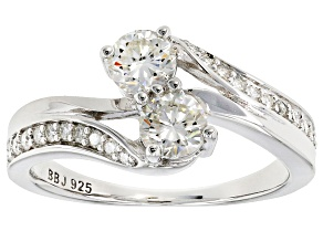 Pre-Owned Moissanite Platineve Ring .96ctw D.E.W