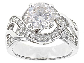 Pre-Owned Moissanite Ring Platineve™ 2.62ctw DEW