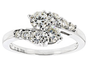Pre-Owned Moissanite Ring Platineve™ 1.11ctw DEW