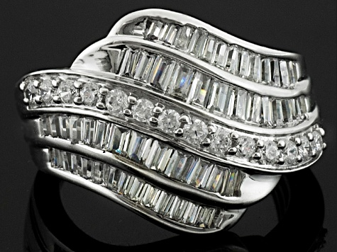 Pre-Owned Cubic Zirconia Silver Ring 2.95ctw