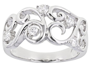 Pre-Owned Moissanite Platineve ring .25ctw DEW.