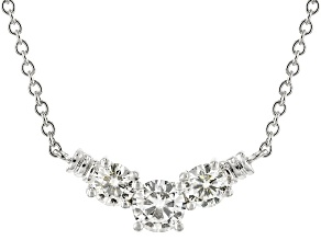 Pre-Owned Moissanite Necklace Platineve™ 1.26ctw DEW