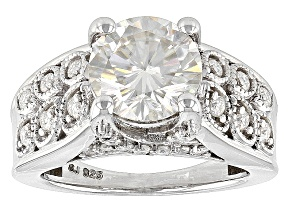 Pre-Owned Moissanite Platineve Ring 2.58ctw DEW