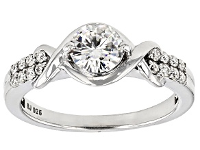 Pre-Owned Moissanite Ring Platineve™ .96ctw DEW
