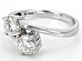 Pre-Owned Moissanite Platineve Ring 1.06ctw DEW