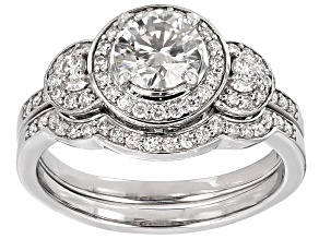 Pre-Owned Moissanite Ring Platineve™ 1.90ctw DEW
