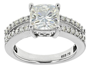 Pre-Owned Moissanite Ring Platineve™ 1.94ctw DEW