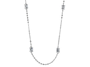 Pre-Owned Cubic Zirconia Platineve Necklace 6.02ctw (4.56ctw DEW)
