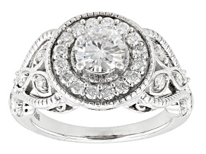 Pre-Owned Moissanite Ring Platineve™ 1.61ctw DEW.