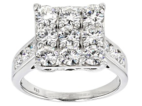 Pre-Owned Moissanite Platineve Ring 2.67ctw D.E.W