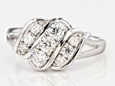 Pre-Owned Moissanite Platineve Ring .63ctw DEW.