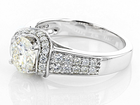 Pre-Owned Moissanite Ring Platineve™ 1.74ctw DEW