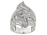 Pre-Owned Cubic Zirconia Sterling Silver Ring 5.48ctw
