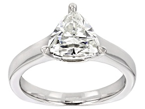 Pre-Owned Moissanite Ring Platineve™ 1.60ct DEW
