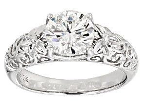 Pre-Owned Moissanite Ring Platineve™ 1.90ct DEW