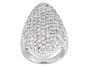 Pre-Owned Cubic Zirconia Sterling Silver Ring 5.07ctw