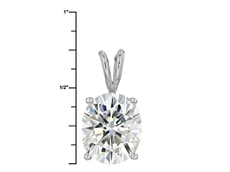 Pre-Owned Moissanite Platineve Pendant 5.80ctw D.E.W